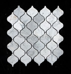 Carrara White Polished Marble Arabasque/Lantern Marble Mosaic Tiles