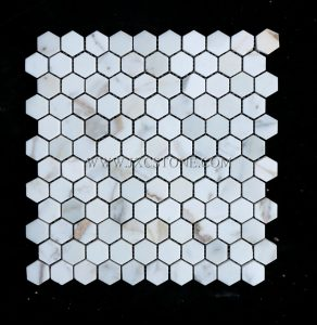 Calacatta Gold Hexagon for indoor Marble Mosaic tiles