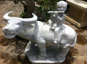 Cowboy Stone Sculpture