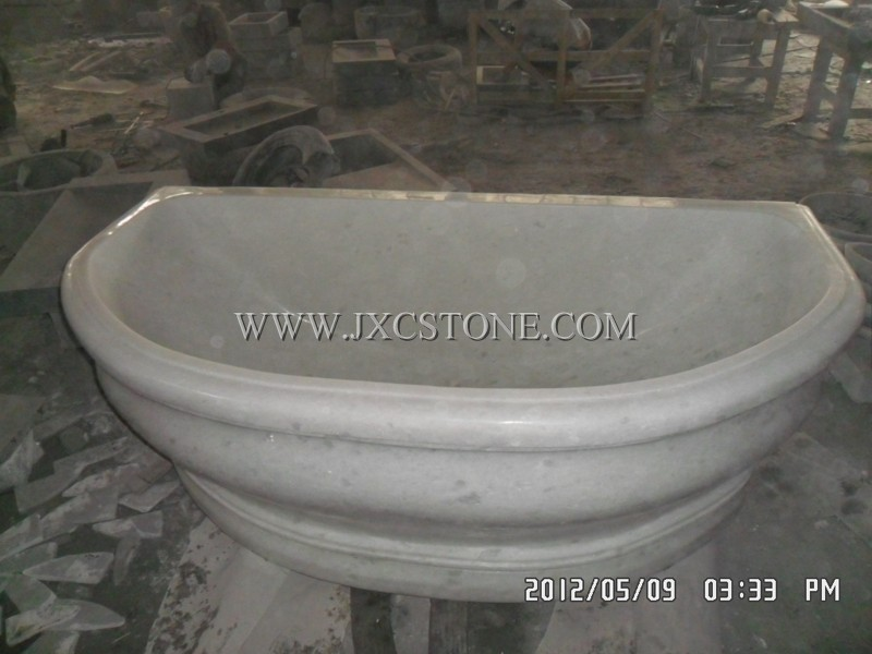 Crystal White Marble Bathtub