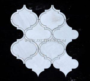 Star White Polished Marble Arabasque/Lantern Marble Mosaic Tiles