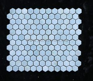 Argentina Blue Hexagon Mosaic Tile
