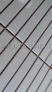 Pure white color porcelain mosaic