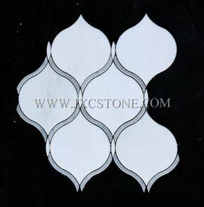 Oriental White Waterjet Mosaic (JX-EW-WJ008)