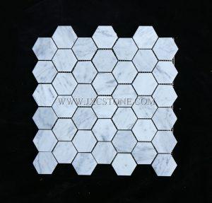 Bianco Carrara Marble 2″ Hexagon Mosaic
