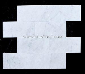 "Carrara White Polished Marble Mosaic 4 x 8 "" Brick Marble Mosaic Tile"