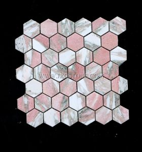 Rosa Norvegia 2 inch Hexagon Mosaic Tile