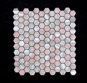 Rosa Norvegia 1 inch Hexagon Mosaic Tile