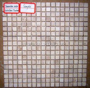 Tumbled White Travertine Square Mosaic Tiles