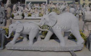 Elephant Stone Carving