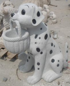 Dog Stone Carving