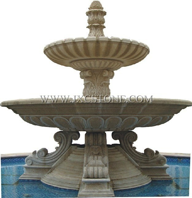 Beige Marble Fountain
