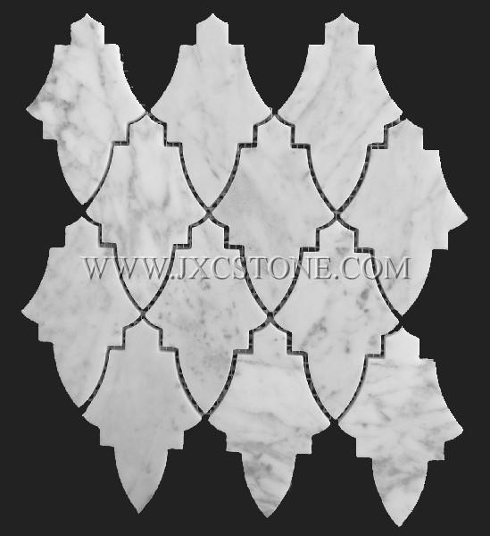 New Design Carrara White Marble Mosaic Tile