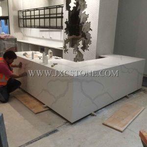 Calacatta White Quartz Bar Countertops