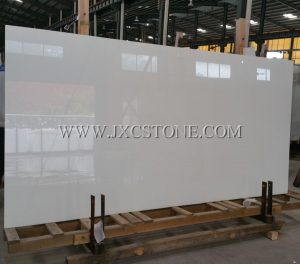 Nano Pure White Marble Glass Slabs