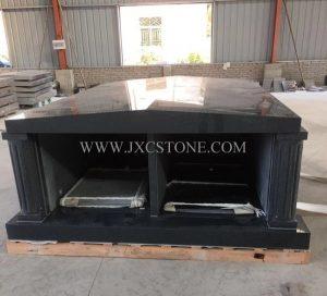 Dark Grey Granite Private Mausoleum