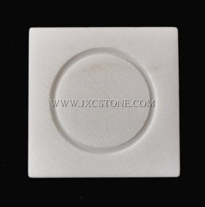 White Marble Square Shape Lamps