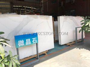Calacatta White Nano Glass Slabs