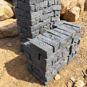 Zhangpu Black Granite Cube Stone Natural Surface